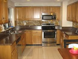 brilliant kitchens with oak cabinets and wood floors golden