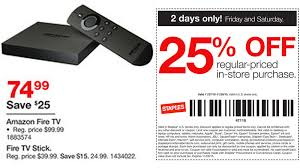 black friday store coupons staples to sell fire tv and fire tv gaming edition for 25 off for