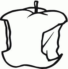 apple bite coloring page fruits drawings of apples coloring