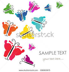 footprint butterfly stock images royalty free images vectors