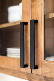 ash wood honey presidential square door black kitchen cabinet