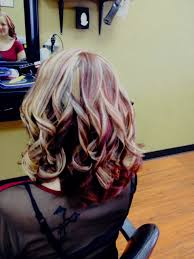 red violet hair color with blonde highlights cool hairstyles