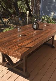 large outdoor dining table outdoor wood dining furniture diy large outdoor dining table seats