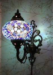 Mosaic Wall Sconce Multicolour Turkish Moroccan Style Mosaic Wall Sconce Light