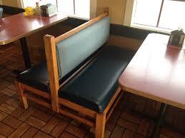 custom indoor bench cushions with plain black custom restaurant