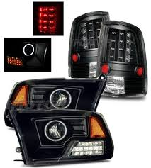 2011 dodge ram headlight replacement dodge ram 2500 2010 2015 black halo projector headlights and led