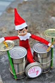 elf on the shelf ideas elf rock band with cans elf ideas