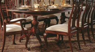 table captivating american drew cherry grove double pedestal