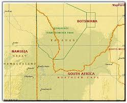 africa map kalahari kalahari safari facts tips and advice