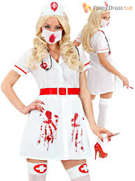 adults toxic nurse doctor costume mens ladies zombie dr halloween