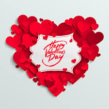 happy valentines day banner happy s day vector greeting card brush pen lettering on