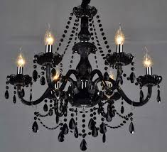 Black Chandelier With Shades Awesome Black Crystal Chandelier The Gallery Jet Black Crystal