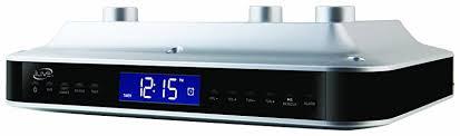 under cabinet bluetooth speaker ilive ikb333s under cabinet radio with bluetooth speakers silver