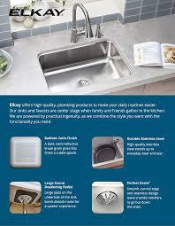 Elkay Innermost Perfect Drain Dual Mount Stainless Steel  In - Elkay kitchen sinks reviews