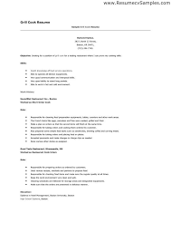 Sample Resume For Chef by Cook Resume Line Cook Resume Cook Sample Resume Cover Letter