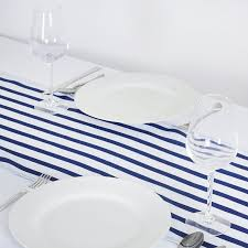 blue and white table runner amazon com balsacircle 12 x 108 inch navy blue satin stripes table