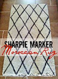diy sharpie moroccan shag rug