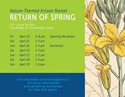 Colors Of Spring 2017 Return Of Spring Nature Themed Artisan Market Swell Gallery