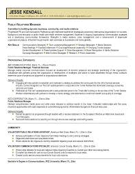 Resume For Communications Job by Sample Public Relations Manager Resume 19 20 Well Crafted Samples