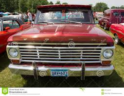 Vintage Ford Truck Bumpers - vintage red ford f100 pickup truck front view editorial photo