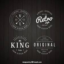 design a vintage logo free set of vintage logos in linear style vector free download
