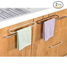 kitchen cabinet towel rack alliebe 2pcs towel rack hanging holder for organizer bathroom
