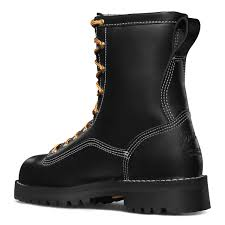 Firefighter Three Boots by Danner Super Rain Forest Black