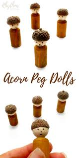 diy acorn peg dolls rhythms of play