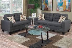 grey linon like fabric sofa loveseat set