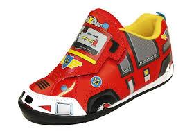 buy boys fireman sam cartoon character velcro panel casual trainer