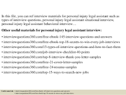 Resume For Legal Assistant Top 10 Personal Injury Legal Assistant Interview Questions And Answers