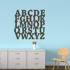 Letter Wall Decals For Nursery Alphabet Letter Wall Decal Typography Block Nursery 22 X24