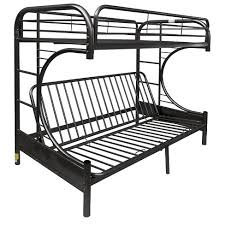 Black Metal Futon Bunk Bed Eclipse Futon Bunk Bed Black Acme Target