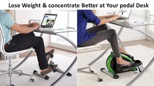 under desk foot exerciser lose weight concentrate better at your desk cycle youtube