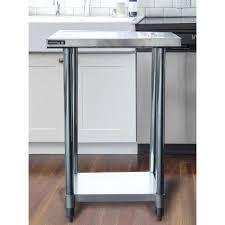 home depot stainless steel table sportsman stainless steel kitchen utility table with bottom shelf