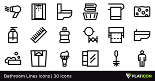 Bathroom Png Bathroom Lines Icons 30 Free Icons Svg Eps Psd Png Files