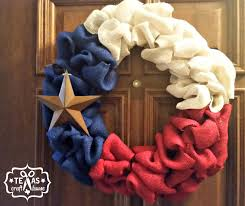 Texas Flag Decor Texas Wreath Texas Craft House
