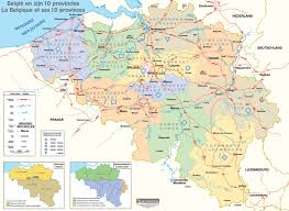 map of begium belgium map of belgium and its 10 provinces