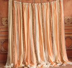 Sparkle Window Curtains by Chic Shabby Coral Fabric Gold Sparkle Sequin Photo Booth Birthday