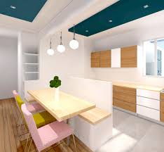 decoration salon avec cuisine ouverte cuisine ouverte avec bar sur salon fashion designs