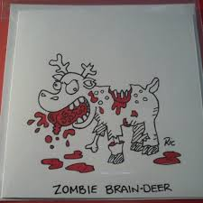 hand drawn zombie christmas cards order now putty cad
