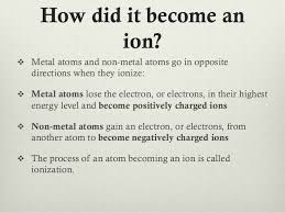 what is an ion chemistry presentation