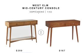 Mid Century Console Table Appealing Mid Century Console Table With West Elm Mid Century