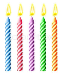 birthday candle illustrated burning birthday candles stock photo colourbox