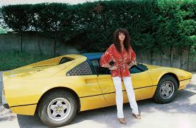 cool old cars kate bush and a yellow ferrari in italy 1978 cool old
