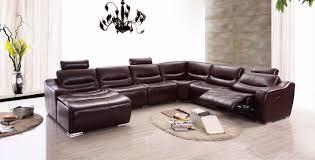 amazon com esf modern 2144 brown italian leather sectional sofa w
