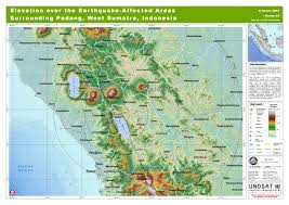 Wsu Map Elevation Over The Earthquake Affected Areas Surrounding Padang