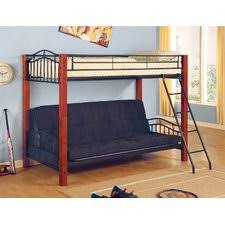 Bunk Bed With Futon Bottom Futon Loft Bed Bm Furnititure