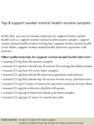 best ideas of cover letter for support worker mental health about