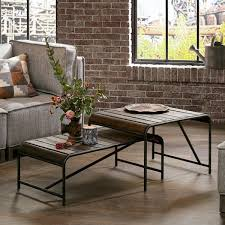 everett reclaimed wood coffee table with gunmetal frame free